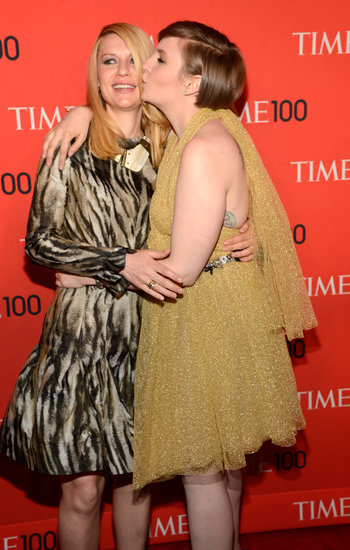 Claire Danes received a smooch from Lena Dunham.