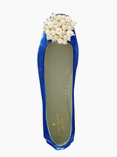 "We're obsessed with these Kate Spade Flambe flats ($125) — they'll make a beautiful pick for your ""something blue."""