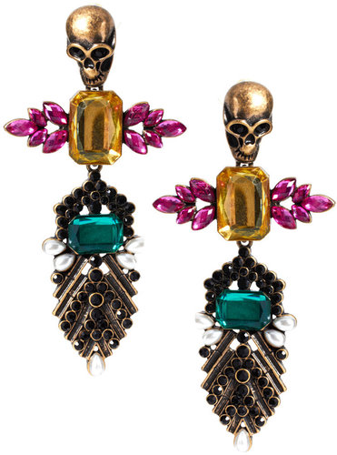 ASOS Skull Jewelled Drop Earrings