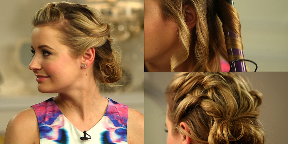 A Romantic Updo For Shoulder-Length Hair