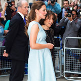 Kate Middleton Shows Off Her Baby Bump in Baby Blue