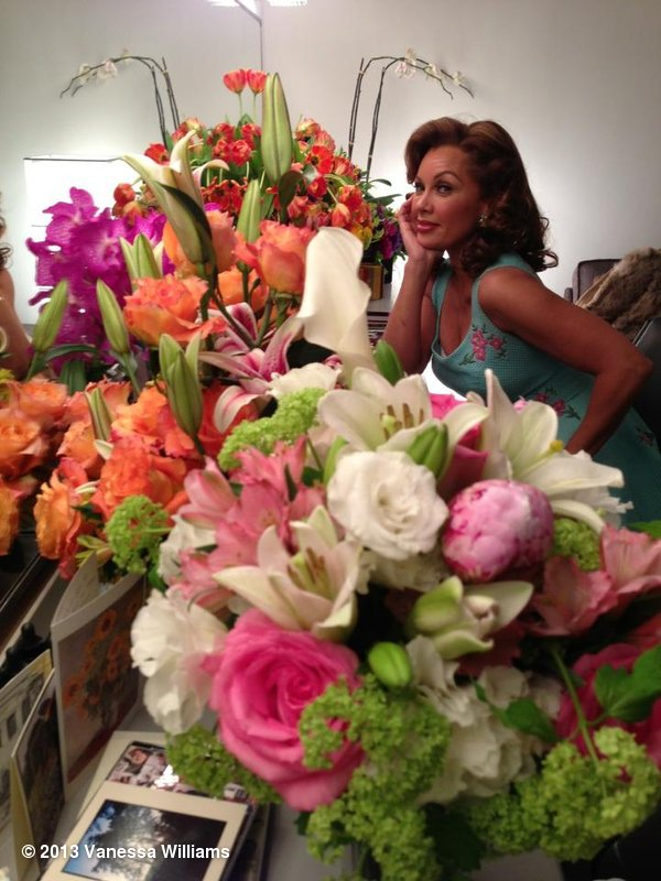 Vanessa Williams posed with her many flo