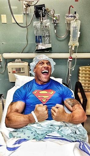 Dwayne Johnson showed off his