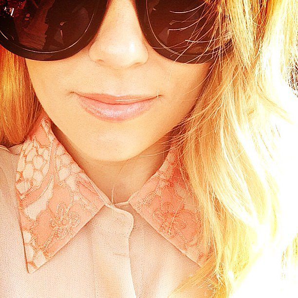 Lauren Conrad snapped a sunny selfie in a pretty collared shirt. Source: Instagram user laurenconrad