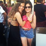 Lucy Hale stayed close to a friend while hanging at Coachella. Source: Instagram user lucyhale89