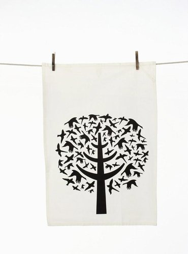 Ferm Living - Bird Leaves Tea Towel