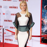 Gwyneth Paltrow In Sheer White & Black Antonio Berardi Dress