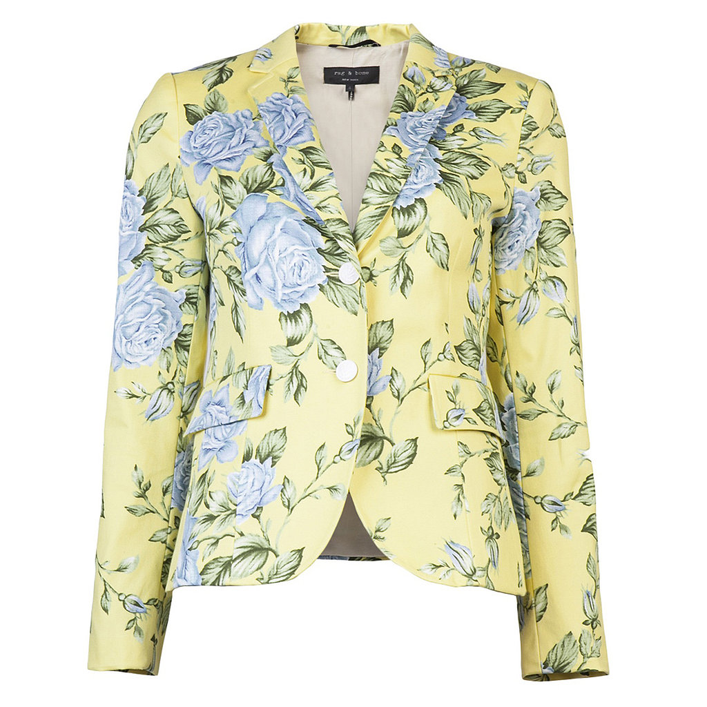 This Rag & Bone yellow floral blazer ($347, originally $495) is a must have because it will instantly spruce up everything from your laid-back jeans to your office-chic pencil skirts.