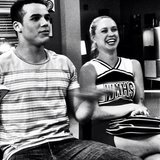 Becca Tobin and Jacob Artist fooled around on the set of Glee. Source: Instagram use chordover