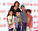 "Holly Robinson Peete explains that the best trick her mama taught her is . . . ""She taught me how to change diapers one-handed. So I could actually change two diapers at one time with one hand when I had my twins."""