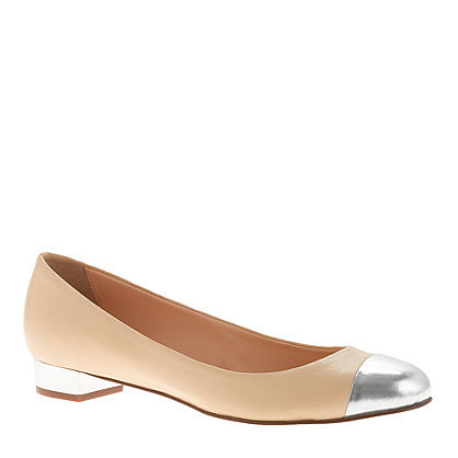 J.Crew's Janey Metallic Cap-Toe Flats (£160.14) would be the perfect complement to a pleated skirt.