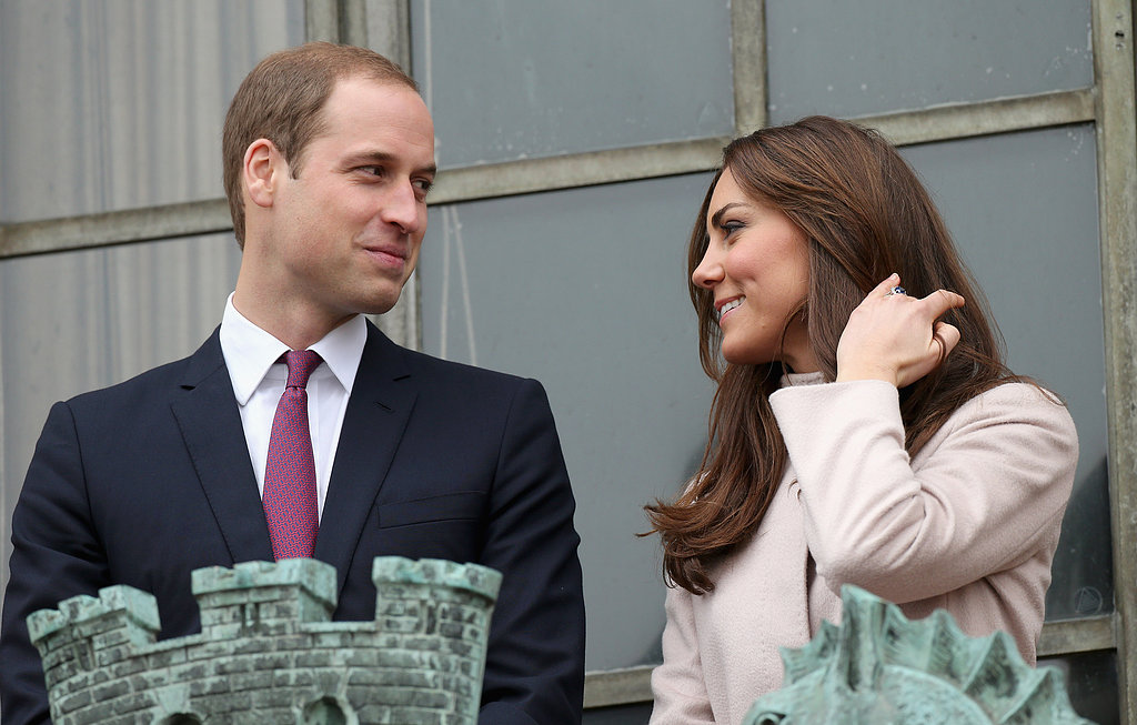 Kate and Prince William glanced lovingly at each other during an official visit to Cambridge, England, in November 2012.