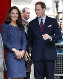 Kate Middleton and Prince William were side by side at a special London reception in April 2012.