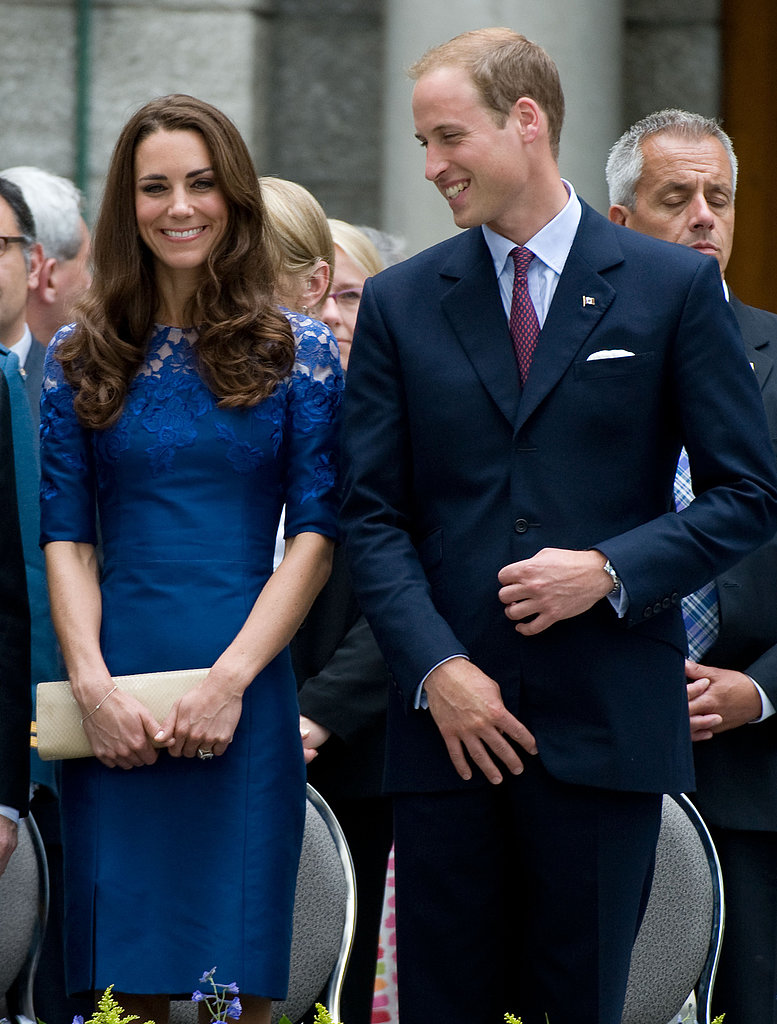 Prince William gave Kate Middleton a loving glance during their July 2011 visit to Quebec City.