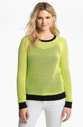 MICHAEL Michael Kors Colorblock Mesh Sweater