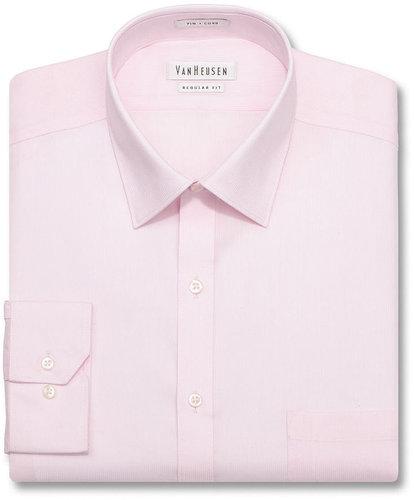 Van Heusen Dress Shirt, Pincord Solid Long Sleeve Shirt