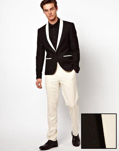 ASOS Slim Fit Tuxedo Suit Pants