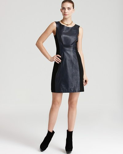 Aqua Dress - Leather & Ponte