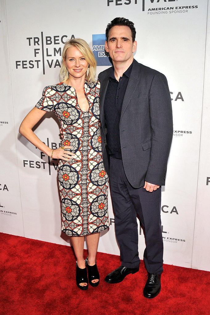 Naomi Watts and Matt Dillon paired up at the premiere of Sunlight Jr. at Tribeca Film Festival on April 20.