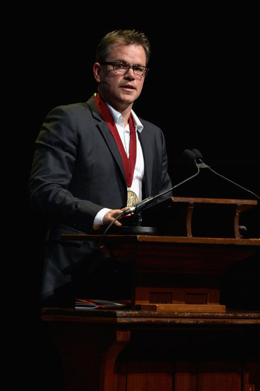 Matt Damon recieved the 2013 Harvard Arts medal.