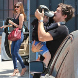 Miranda Kerr and Orlando Bloom Treat Flynn to a Fun Outing