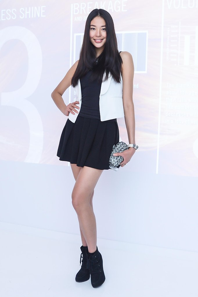 Zi Lin at the Nexxus Art & Science of Hair Exhibition opening in New York. Source: Joe Schildhorn/BFAnyc.com