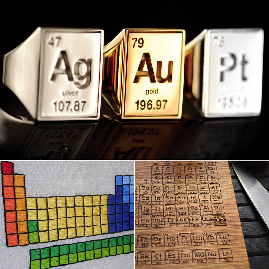 Periodic Table of Elements Gear Worth Their Weight in Au