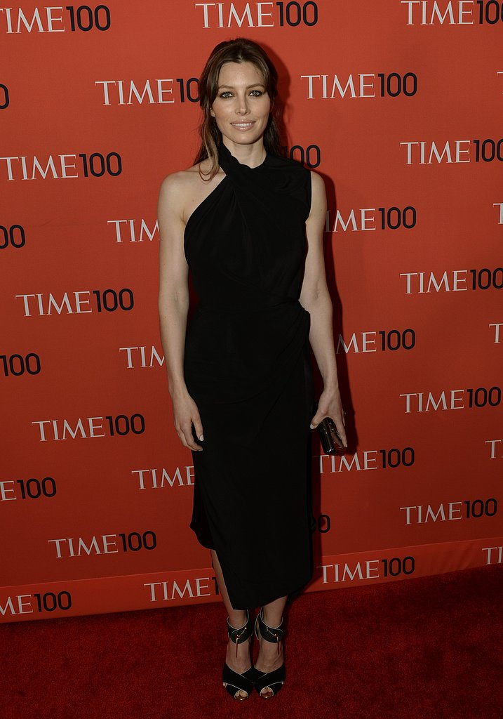 Jessica Biel was a knockout in black Tom Ford at the Time 100 Gala.