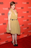 Lena Dunham wore Fall 2013 Saint Laurent at the Time 100 Gala in New York.