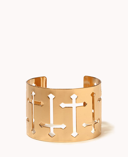 FOREVER 21 Cutout Cross Cuff
