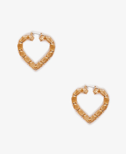 FOREVER 21 Cutout Heart Shaped Earrings