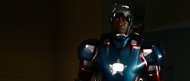 Don Cheadle in Iron Man 3.