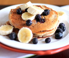 High Protein Cottage Cheese Oatmeal Banana Pancakes