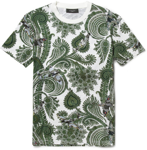 Givenchy Paisley and Plane-Print Cotton T-Shirt