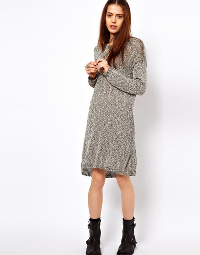 Just Female Flecked Sweater Dress