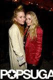 Mary-Kate Olsen and Ashley Olsen saw the Rolling Stones show at LA's Echoplex.
