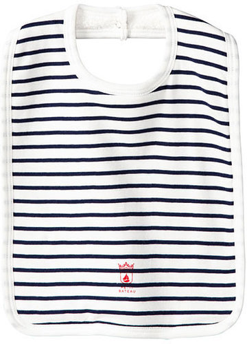 Baby Boy Sailor-Striped Large Bib