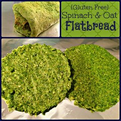 Gluten Free Spinach &amp; Oat Flatbread