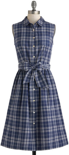 People Tree Plaid a Good Time Dress