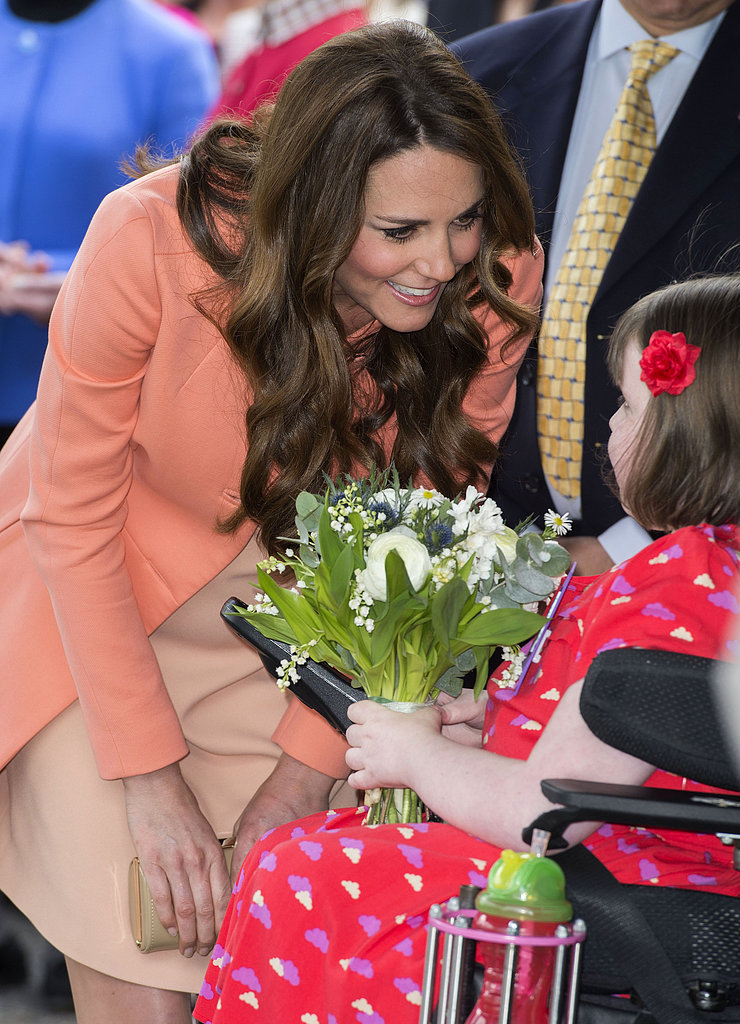 Kate Middleton greeted a patient at the hospice.