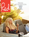 Reese Witherspoon lounged in a car for the cover of Red magazine. Source: Red Magazine