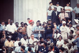 At the end of the Poor People March, Reverend Ralph Abernathy delivered a speech at the Lincoln Memorial.