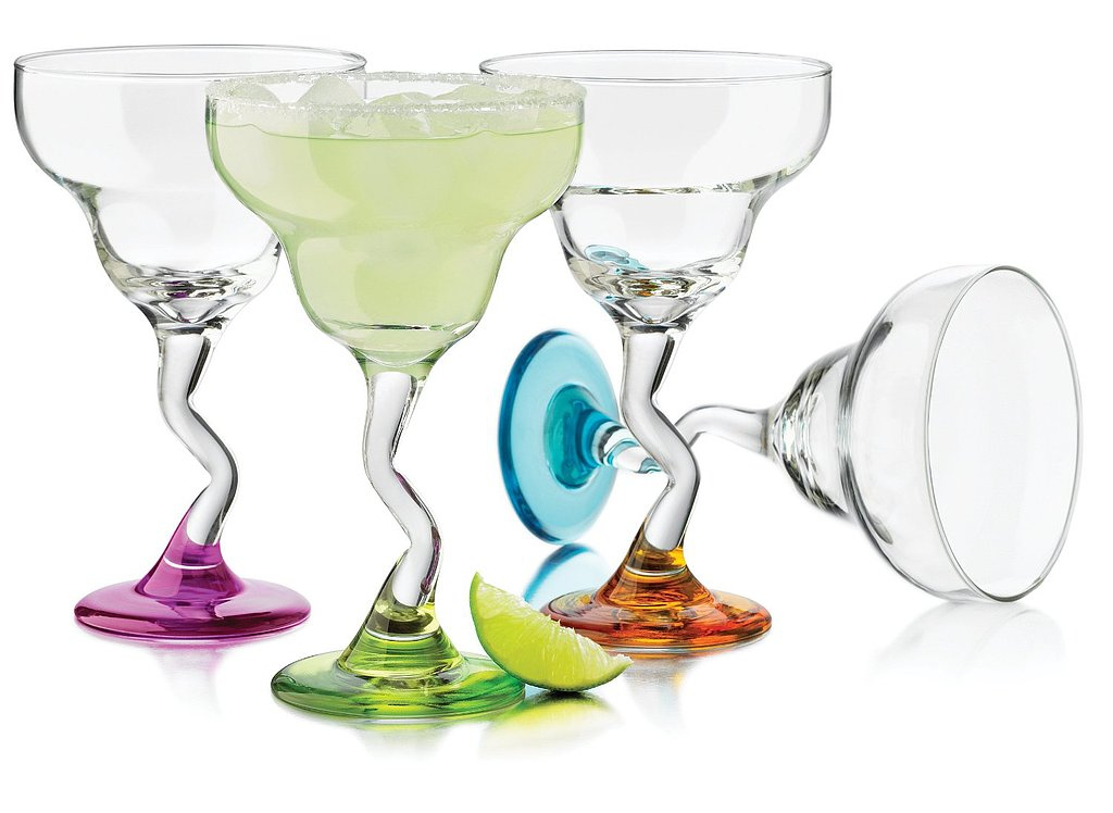 Zigzagged Margarita Glasses