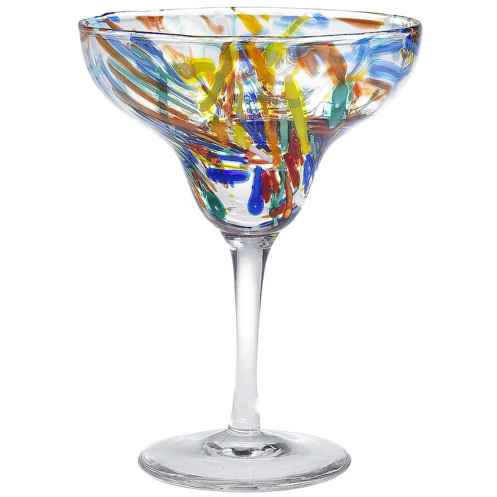 Confetti-Covered Margarita Glass