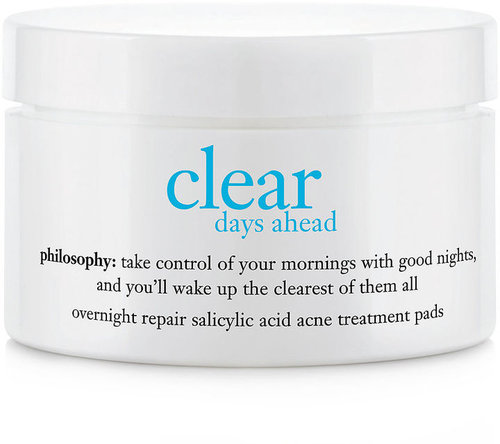 Philosophy clear days ahead overnight repair salicylic acid acne treatment pads 60 ct (60 ct)
