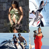 Kim, Kourtney, and Khloe Have a Greek Getaway With Their Family