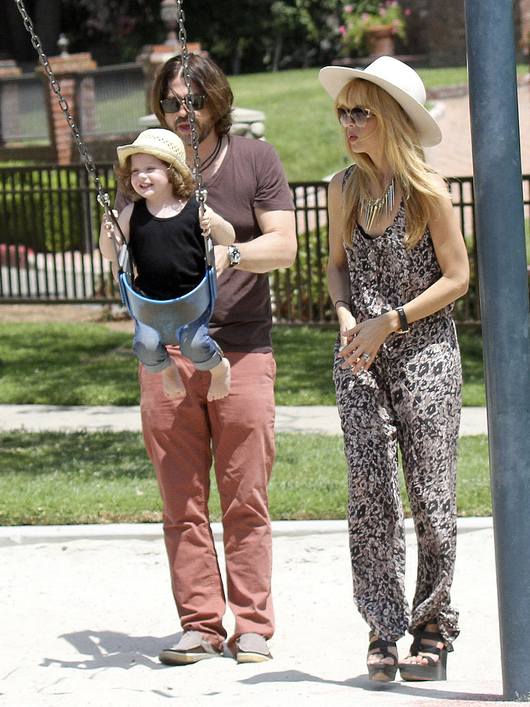 Rachel Zoe and Rodger Berman spent a Sunday with their son, Skyler, at an LA park.