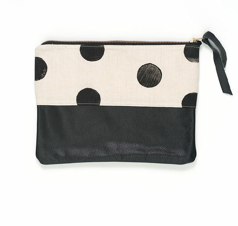 Brika Polka-Dot Clutch