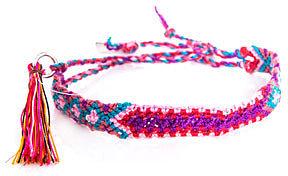 Lucy Folk Wild Rice braided bracelet