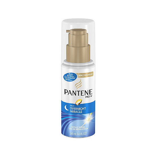 Nighttime isn't only the time your skin takes to recharge; your hair absorbs nutrients best while you rest too. Pantene's Overnight Repair ($6) helps smooth my unruly ends during beauty sleep. This cream isn't overly greasy, either, so there's no need to wash your hair (or the pillows) come morning. — JC